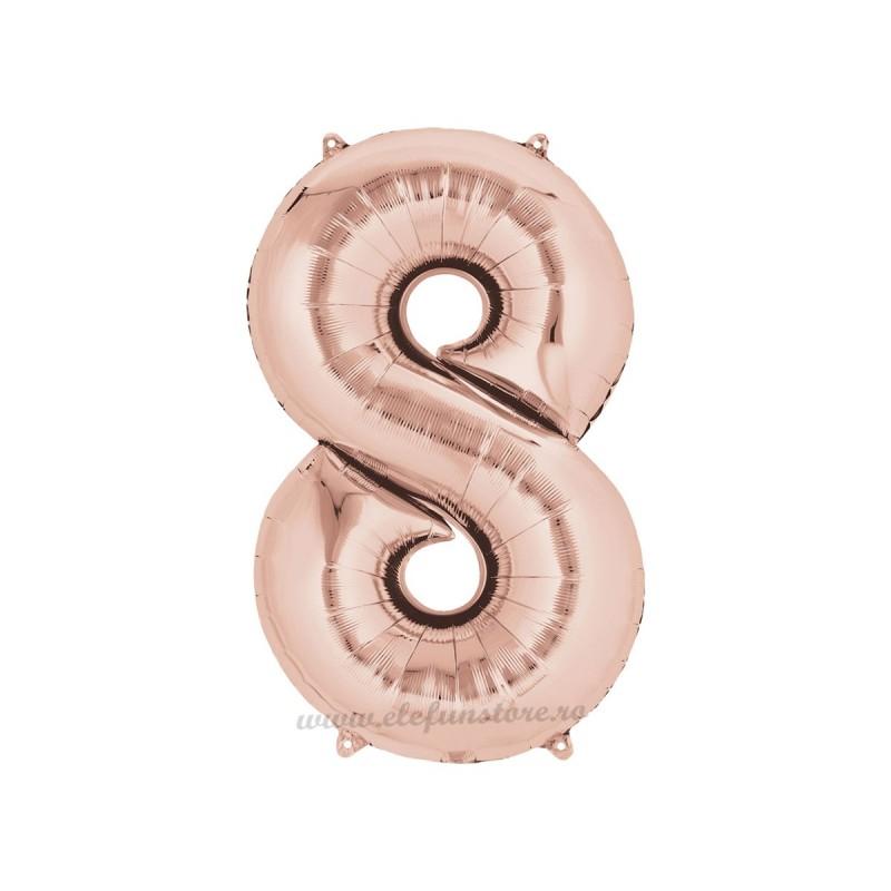 Balon Cifra 8 Rose Gold 40cm