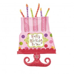 Balon Tort Happy Birthday Carnaval 90cm