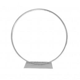 Suport cerc argintiu din metal 35 cm