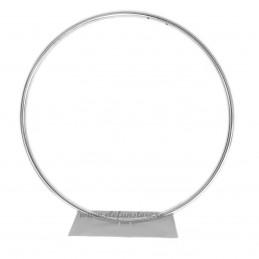 Suport cerc argintiu din metal 50 cm