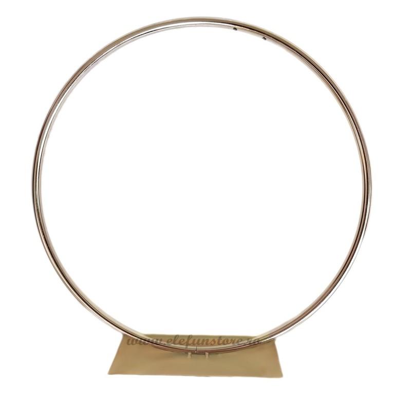 Suport cerc auriu din metal 50 cm