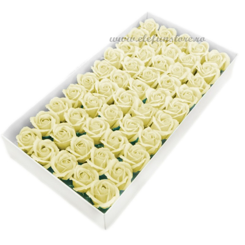 Set 50 Trandafiri de Sapun Ivoire