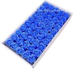 Set 50 Trandafiri de Sapun Albastri