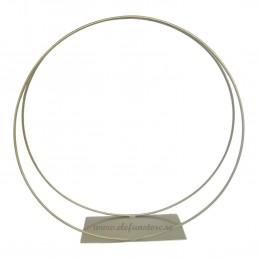 Suport cerc dublu auriu 50 cm