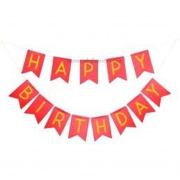 Banner Happy Birthday Rosu