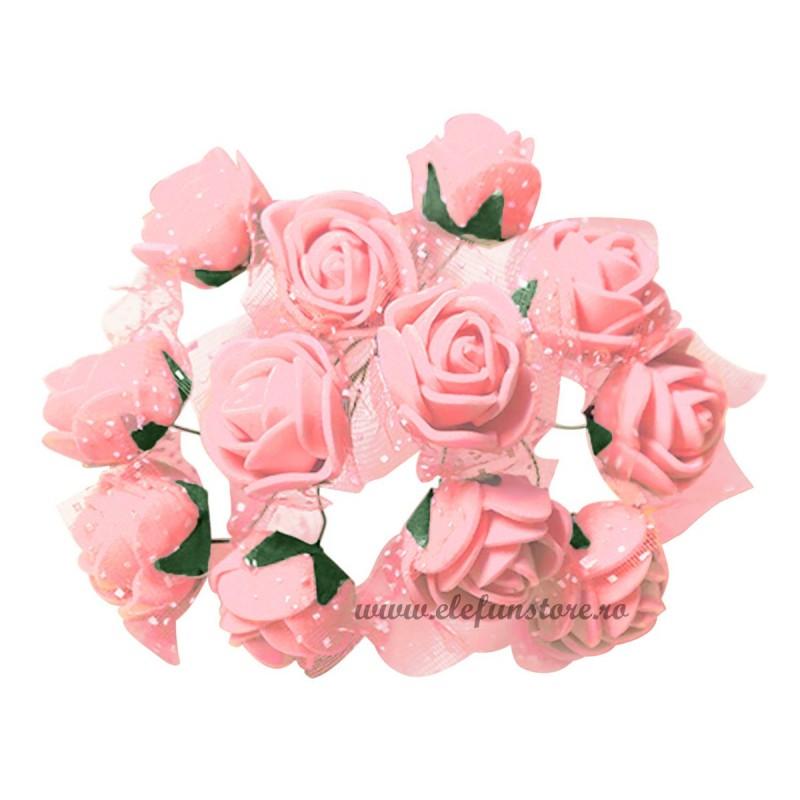 Set 144 trandafiri din spuma somon 2cm