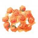 Set 144 trandafiri din spuma portocalii 2cm