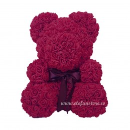 Set 144 trandafiri din spuma burgundy 2cm