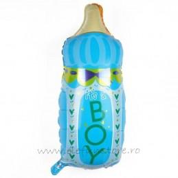 """Balon Biberon """"Boy"""" Bleu 80cm"""