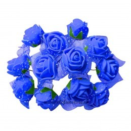Set 144 trandafiri din spuma albastri 2cm