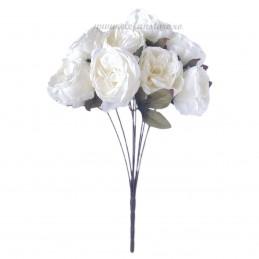Buchet 8 bujori albi 55 cm