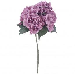 Buchet 7 hortensii lila 40 cm