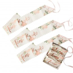 Set 6 Banderole Team Bride Floral