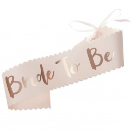 Banderola Bride to Be Rose Gold