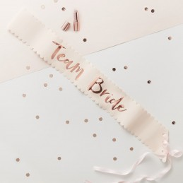 Set 6 Banderole Team Bride Rose Gold
