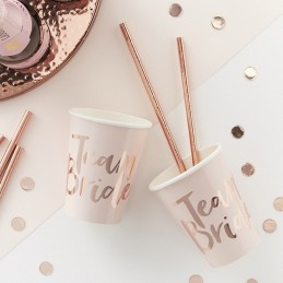 Set 8 pahare Team Bride Rose Gold