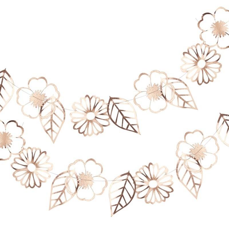 Ghirlanda Floral Rose Gold 3m