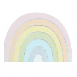 Set 16 servetele Curcubeu Pastel 17cm