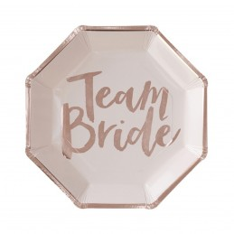 Set 8 farfurii Team Bride Rose Gold 25cm