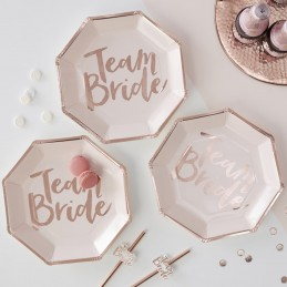 Set 8 farfurii Team Bride Rose Gold 25cm
