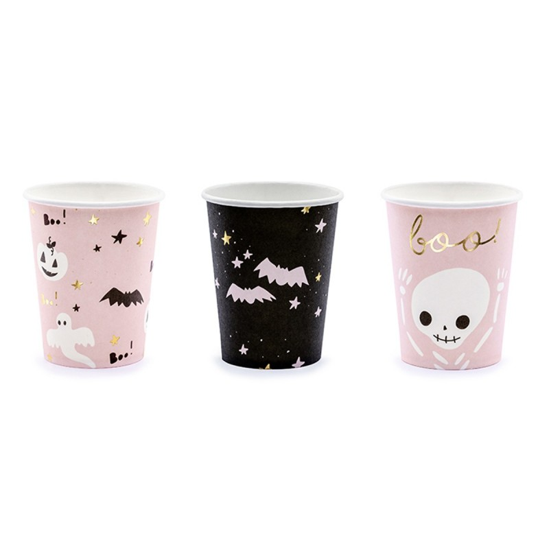Set 6 pahare BOO Halloween 220ml