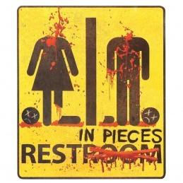 Sticker Halloween Restroom 32cm
