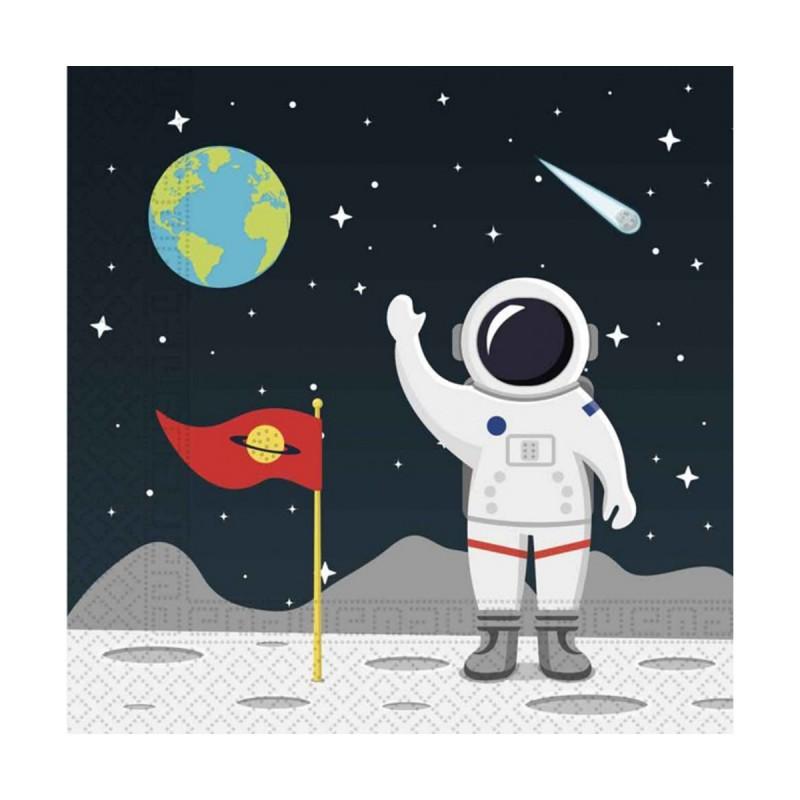 Set 20 servetele Space Party Astronaut