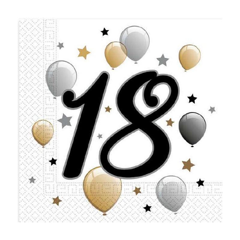 Set 20 servetele Majorat 18 ani