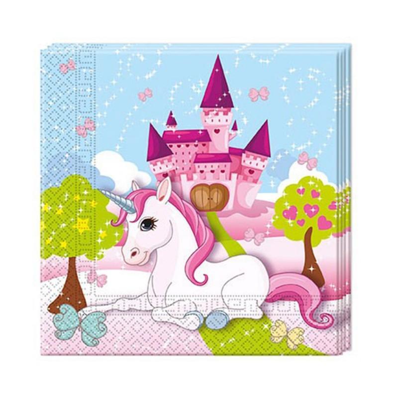 Set 20 servetele Castelul Unicornilor