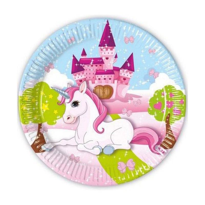Set 8 farfurii Castelul Unicornilor