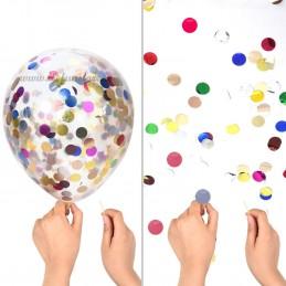 Set 10 Baloane cu Confetti Mov