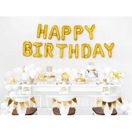 Set 20 servetele Happy Birthday Gold