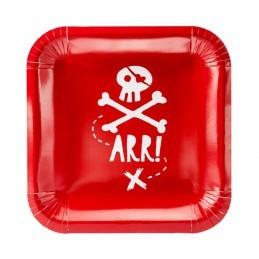 Set 6 farfurii Pirates Party 20 cm