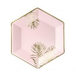 Set 6 farfurii Frunze de Palmier Aurii