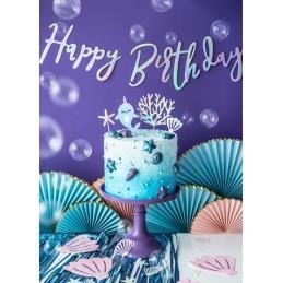 Banner Happy Birthday Iridiscent