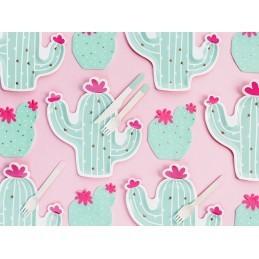 Set 6 platouri Cactus, Llama Party 24 cm