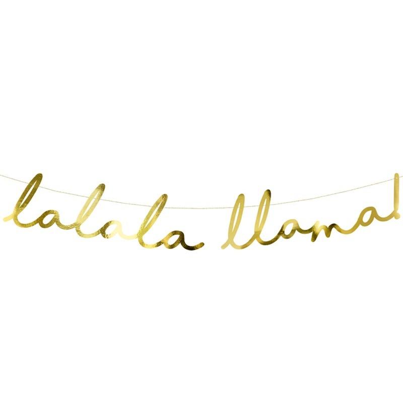 Banner LaLaLa Llama auriu