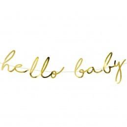 Banner Hello Baby Auriu