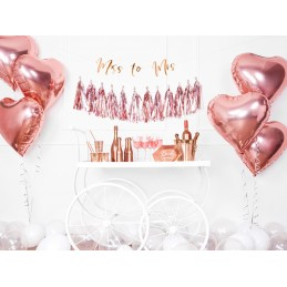 Banner Miss To Mrs Rose Gold