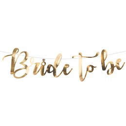 Banner Bride To Be auriu