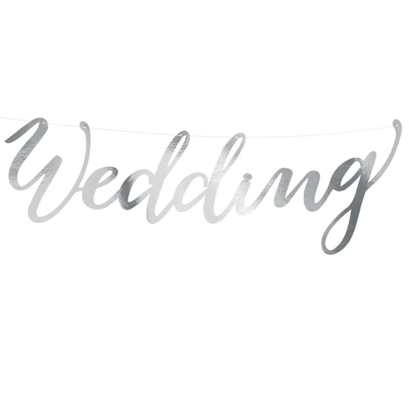 Banner Wedding Argintiu