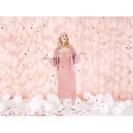 Tun confetti inimioare rosii 60 cm