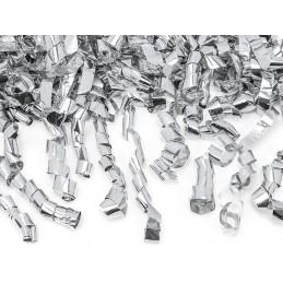 Tun confetti streamers argintii 40 cm