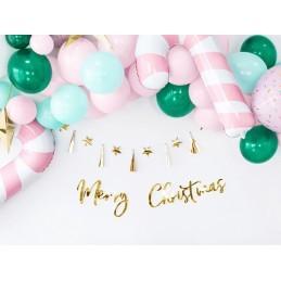 Banner Merry Christmas Auriu