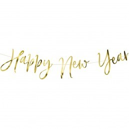 Banner Happy New Year Auriu