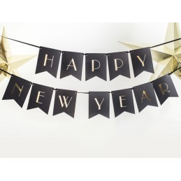 Banner Happy New Year Negru