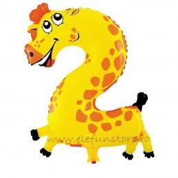 Balon Cifra 2 Girafa 45 cm