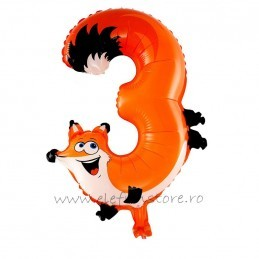 Balon Cifra 3 Vulpita 45 cm