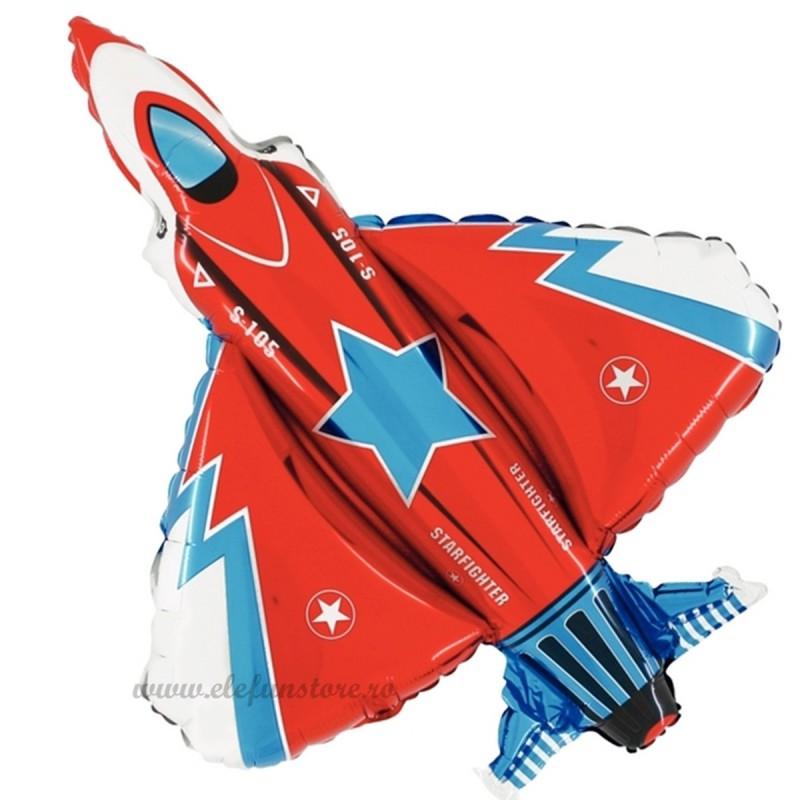 Balon Avion de Razboi Rosu 100cm