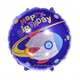 Balon Racheta Happy Birthday Space